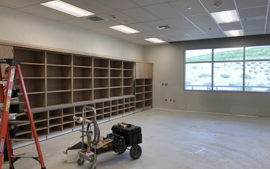 View of Casework in Classrooms