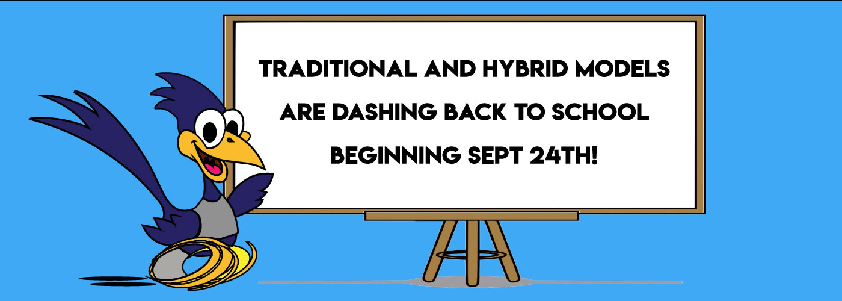 Back to school whiteboard with DASH