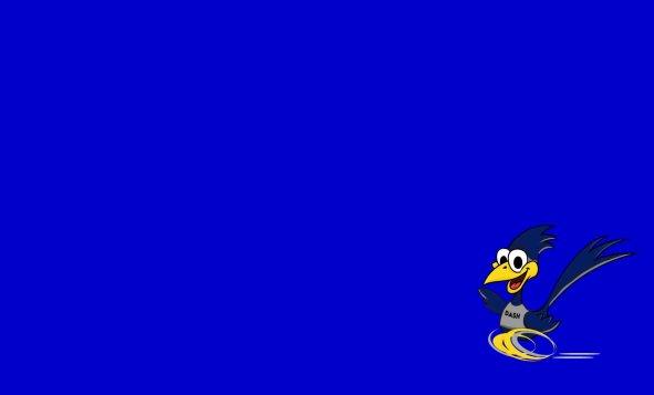 Dash on Blue Background