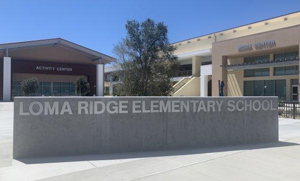 Loma Ridge Elementary School Sign
